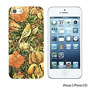 OnlineBestDigitalTM - Flower Pattern Hardback Case for Apple iPhone 5S / Apple iPhone 5 - Welcome Summer Flower