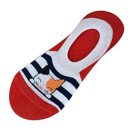 Calcetines de mujer, LILICAT® Dibujos animados Ventilar pantuflas Calcetines Medias antideslizantes de silicona para