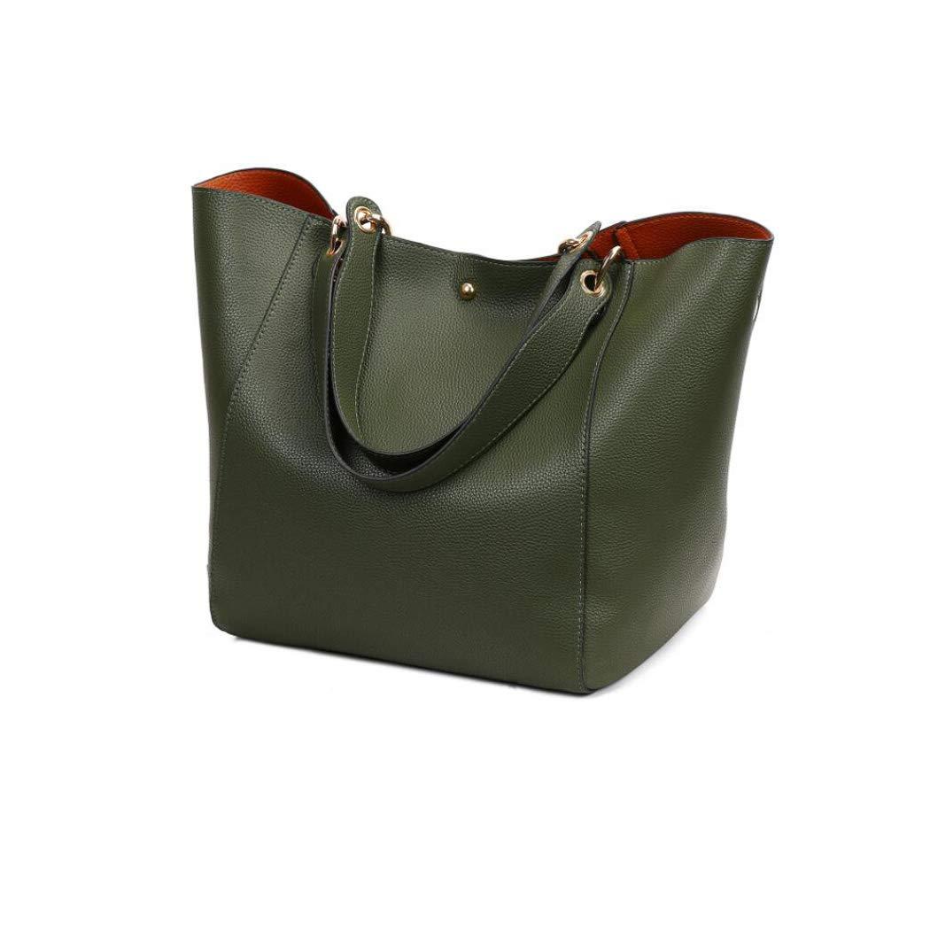 Cvbnm Frauen Leder Handtasche Designer Tote Handtasche Schulter Top-Griff Taschen mit Reißverschluss Geldbörse