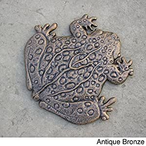 Oakland Living Corporation Premium Frog Stepping Stone Bronze 6