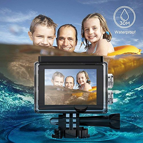DBPOWER EX5000 Action 14MP 1080P Waterproof Sports 2 Inch LCD Screen, 170 Degree Lens, 98ft Underwater DV Camcorder with Kits