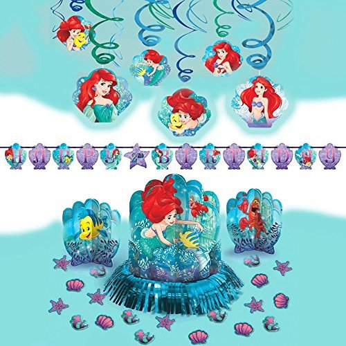 Disney Ariel Dream Big Little Mermaid Girls Birthday Party Pack Decoration -