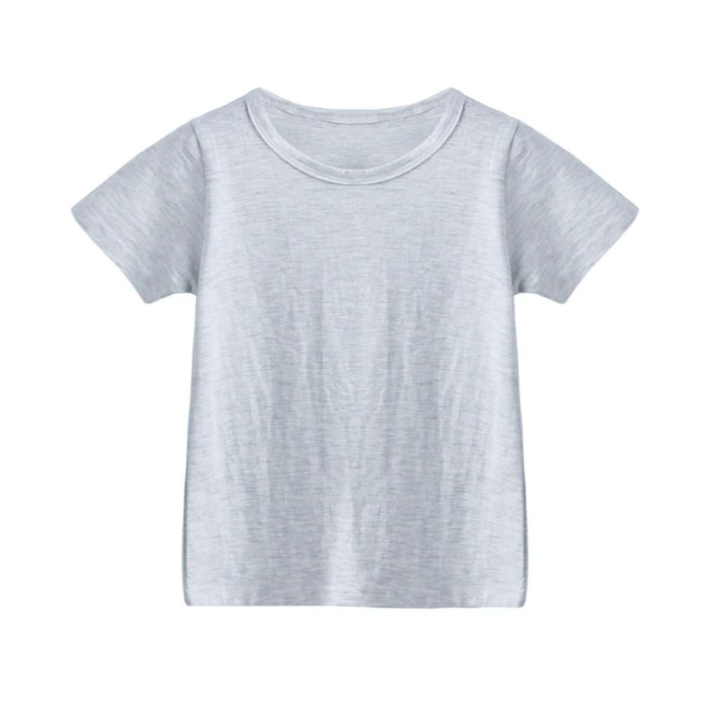 2-6T, Baby Girl Clothes Toddler Boys Summer Basic T-Shirt Plain Tee Tops Clearance Sale Yamally Yamally_9R
