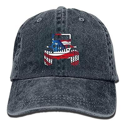 Jeep Flag Denim Hat Adjustable Men's Snapback Baseball Caps