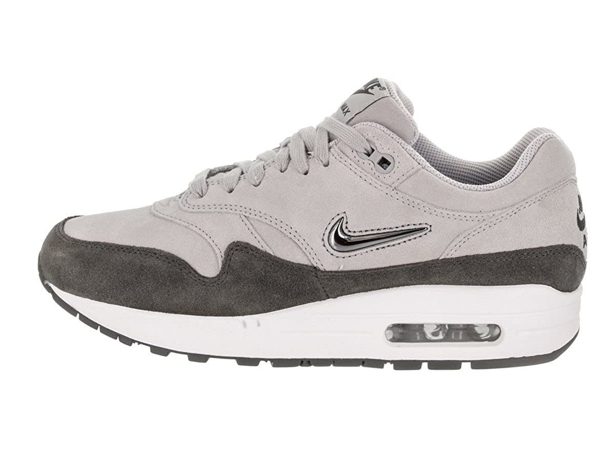 low priced 1d957 152b0 Amazon.com   Nike Women s Air Max 1 Premium SC Wolf Grey MTLC Pewter Casual  Shoe 6.5 Women US   Fashion Sneakers