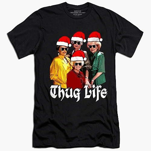 e80c6e642 Thug-Life Santa Merry-Christmas Customized Handmade T-shirt ...