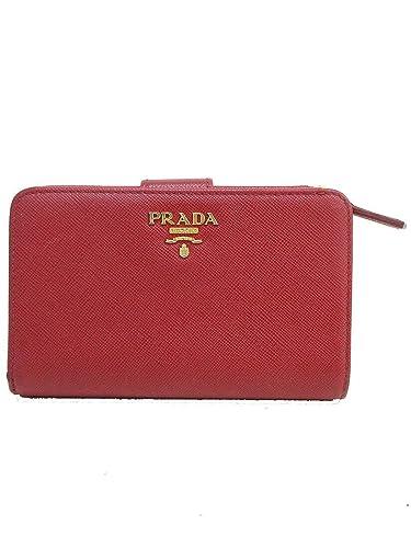 timeless design 8ed38 244b0 Amazon | PRADA(プラダ) サフィアーノ 二つ折り財布 1M1225 赤 ...