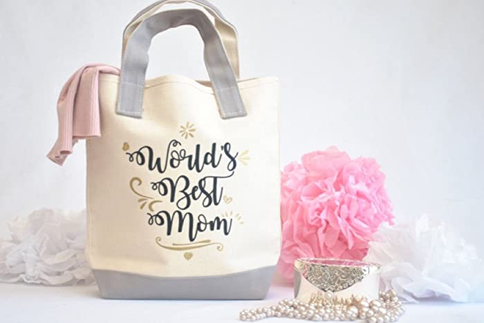 Amazon Com Best Mom Ever Tote Bag Mothers Day Gift Gift For Mom