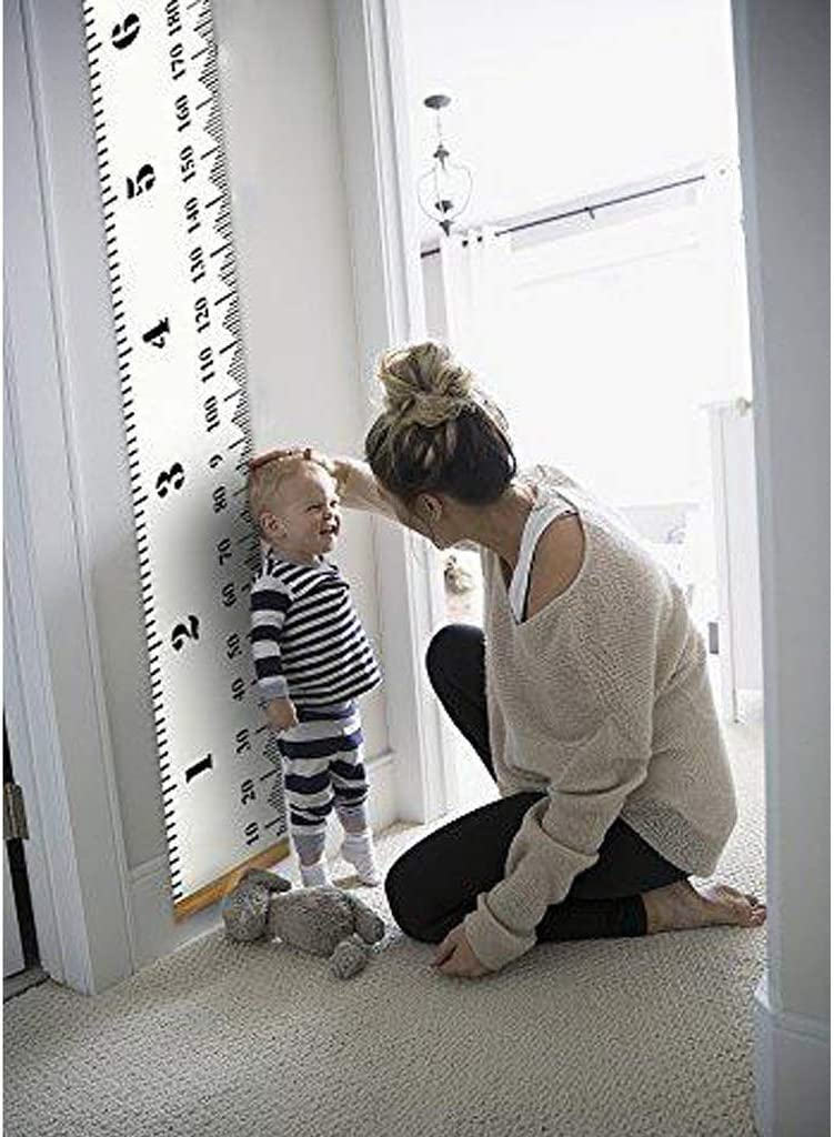 Baby Growth Chart Canvas Wall Hanging Measuring Rulers For Kids Boys Girls Room Decoration Nursery Removable Height And Growth Chart