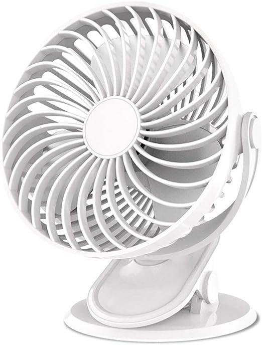 Mini Fan Clip Fan 2200mAh Funciona con Pilas USB Ventilador de ...