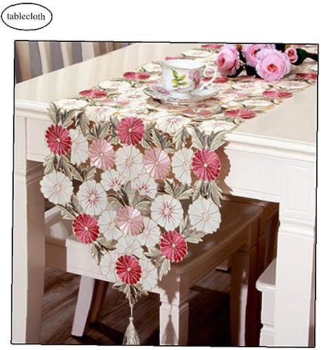 Camino de mesa bordado, elegante, de lujo, tricolor, para ...