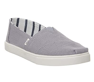 741a522c87d4a TOMS Heritage Canvas Cupsole Alpargatas Morning Dove Slip-On Shoes, Grey, 6