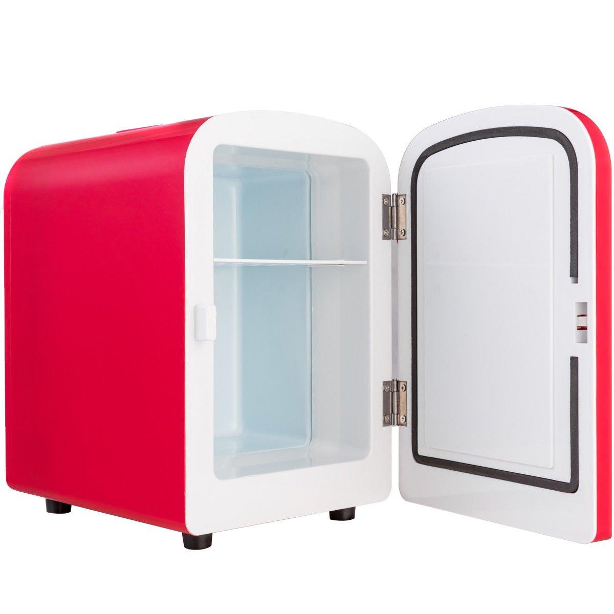 PNPGlobal Mini Fridge Portable Cooler Warmer Heats 4L Auto Car Boat Home Office Red New