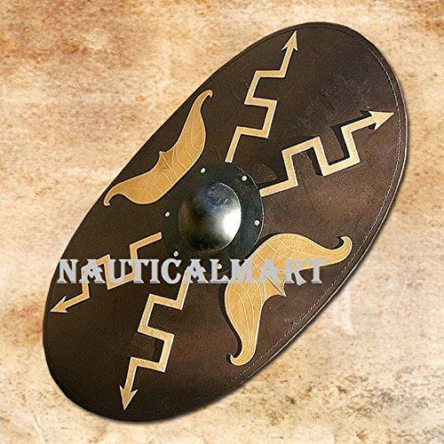NauticalMart Wooden Oval Roman Shield