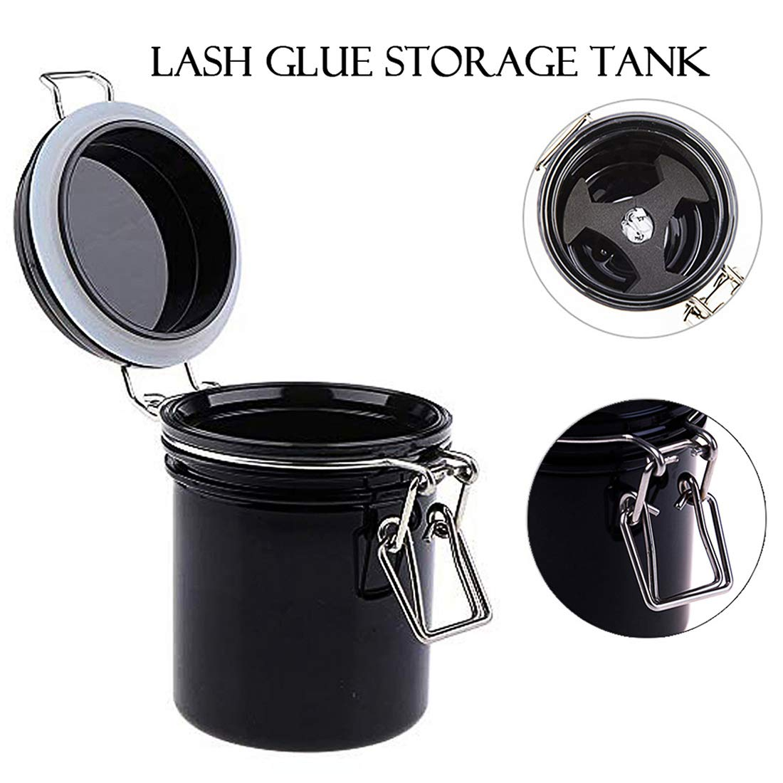 Eyelash Glue Storage Tank Activated Carbon Sealed Storage Jar Leak Proof Container Cylinder Grafting Eyelash Supplies