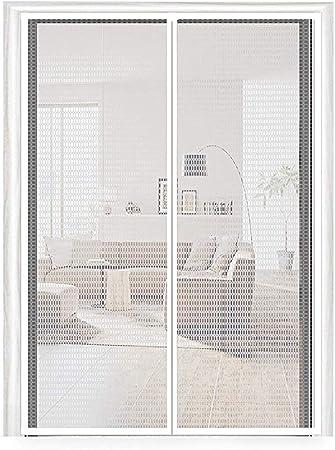 Puerta Mosquitera,Blanco,70x160cm ZFMG Mosquitera Magn/ética para Puertas,Cortina De Malla De Alta Densidad contra Insectos Circulacion De Aire Puerta De Pantalla Magn/ética 28x63inch