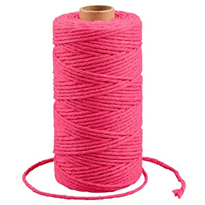 Macrame Cord 3mm, Rose Cotton Bakers Twine String, 328 Feet Mothers Day Gift Twine String, Cotton Cord for Crafts, Knitting : Office Products