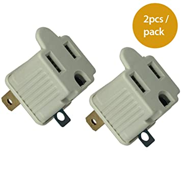 Amazon.com: PI Manufacturing 3 Prong to 2 Prong Grounded Electrical ...