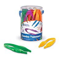 Learning Resources Jumbo Tweezers, Sorting & Counting, Toddler Fine Motor Skill...