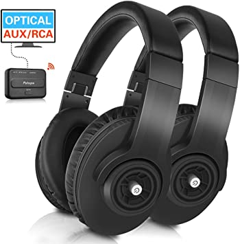 Amazon Com Wireless Tv Headphones Pohopa W239 2 4ghz Over Ear Stereo Headphone 2 Packs For Tv Watching With Transmitter Digital Optical Aux Rca Compatible Samsung Lg Sony Toshiba Philips Tcl Ect Tvs Home