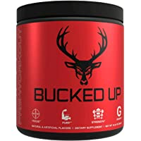 Bucked Up Pre Workout 6 Grams Citrulline, 2 Grams Beta Alanine, and 3 Other Registered trademarked Ingredients (Blue Raz…