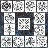 #5: 13 Pack Mandala Dotting Stencils Template,Mandala Dotting Stencils Mandala Dot Painting Stencils Painting Stencils for Painting on Wood,Airbrush and Walls Art