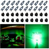 WLJH 74 Led Bulb Dash Lights Super Bright T5 2721 37 86 286 Wedge PC74 Twist Socket Automotive Instrument Panel Gauge…