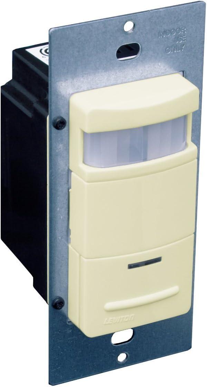 180 Degree Ivory with Mini Tool Box Coverage fs ft 2100 sq Leviton ODS10-IDI Decora Passive Infrared Wall Switch Occupancy Sensor