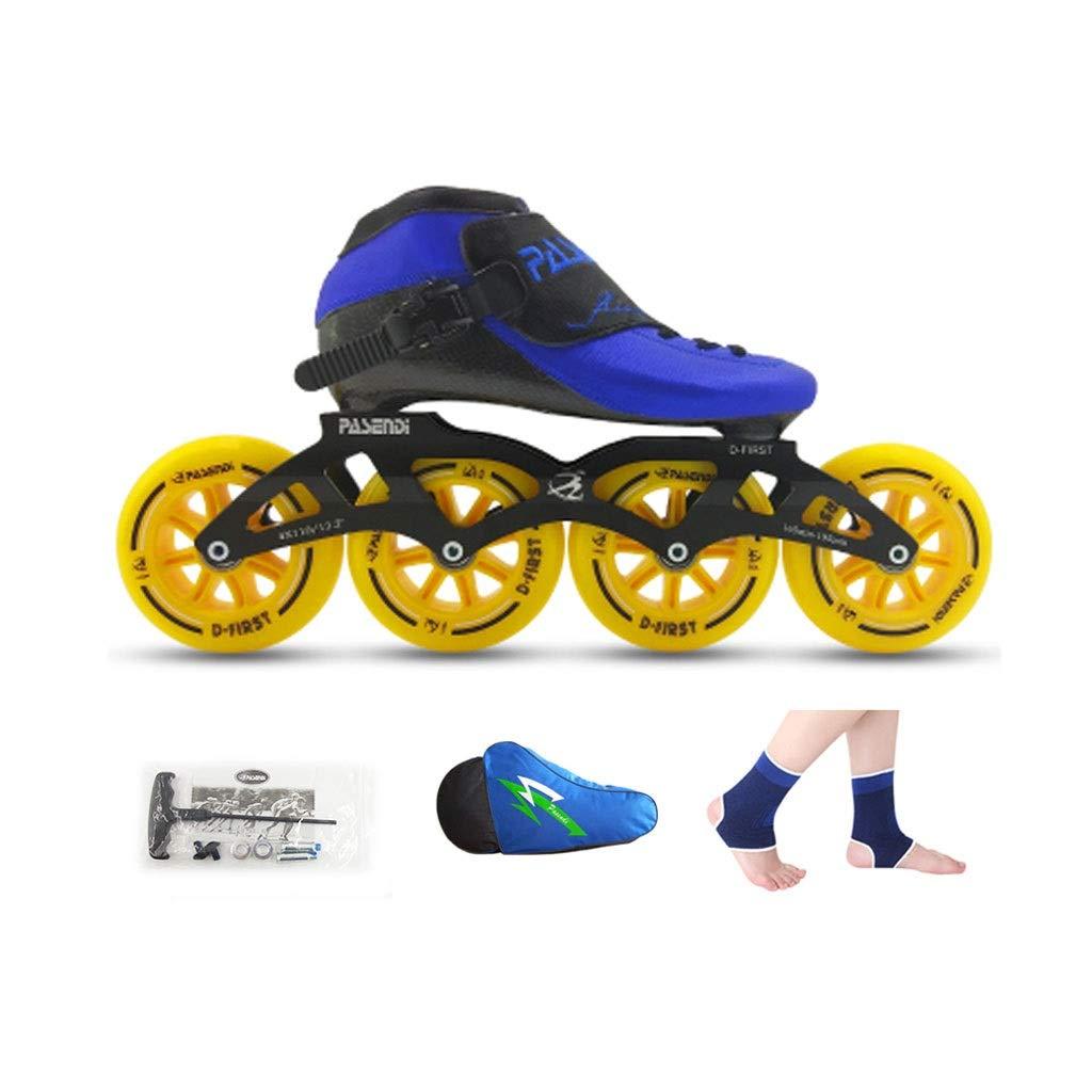 Ailj 返品送料無料 インラインスケート 大人用4輪90MM-110MMホイール 高耐摩耗高弾性PUホイール 熱可塑性単列スケート 4色 色 : A サイズ さいず EU 35 40 B07Q73VC45 店内全品対象 4 22.5cm 7.5 UK B US 25cm JP 3 6.5
