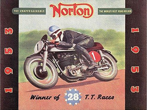 (NORTON MOTORS Brochure 1953: Winner of 28 T.T. Races)