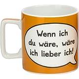 """Sheepworld 42480 Tasse Wortheld """"Wenn ich du wäre, wäre ich lieber ich!"""", orange"""