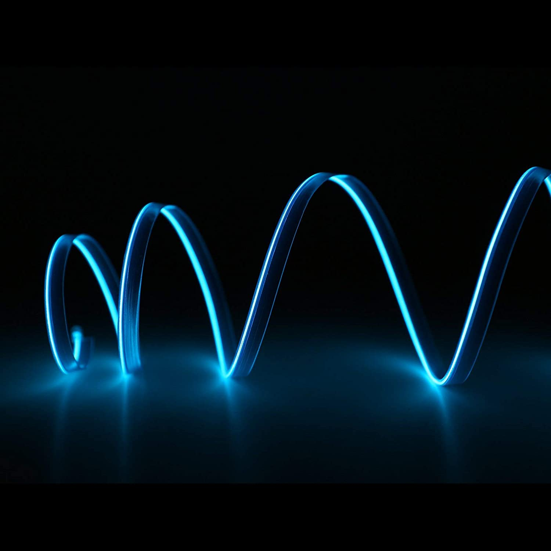 D/écoration flexible N/éon fil EL 4/couleurs 1/m 2/m 3/m Guirlande lumineuse /à LED pour voiture // int/érieur