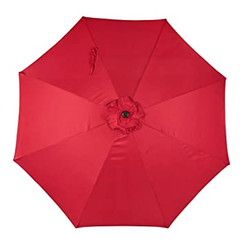 Sundale Outdoor 9 Feet Patio Umbrella Replacement Cover For 8 Ribs Yard  Garden Polyester (Red