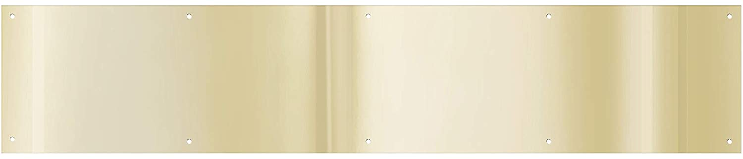 National Hardware Brass Kickplate for Front Doors, 6