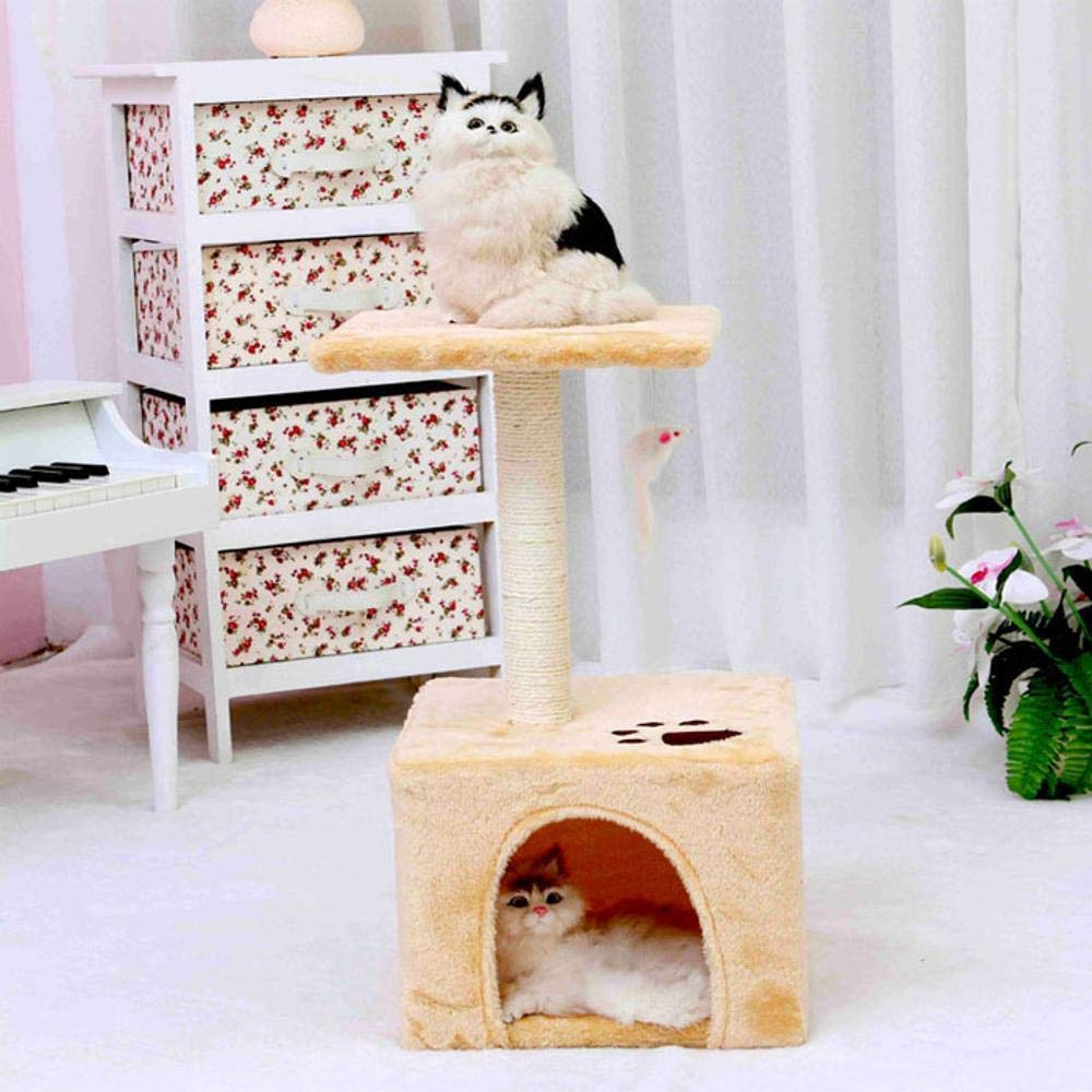TOUYOUIOPNG Deluxe Multi Level Cat Tree Cat Play Towers Fun cat Cat Cat climbing frame simple two-story 30  30  60cm