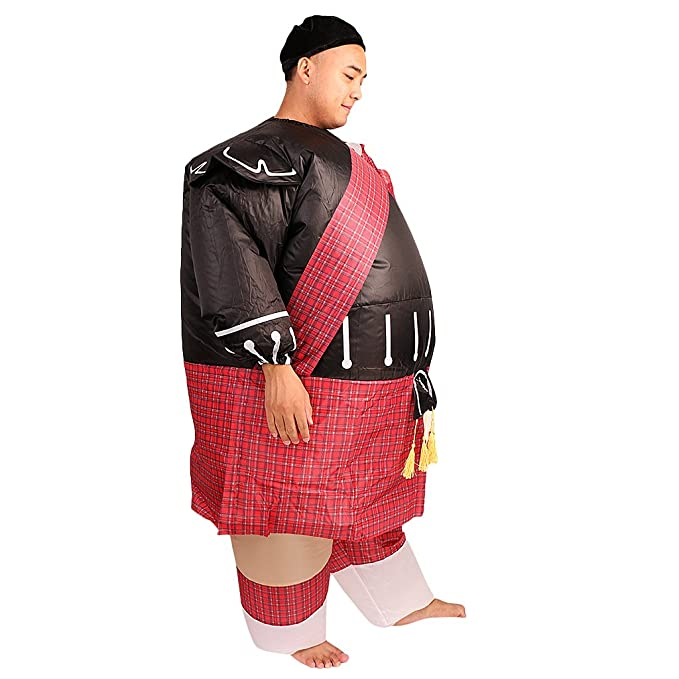 Amazon.com: Inflatable Fat Warrior NINJA Full Body Costume ...