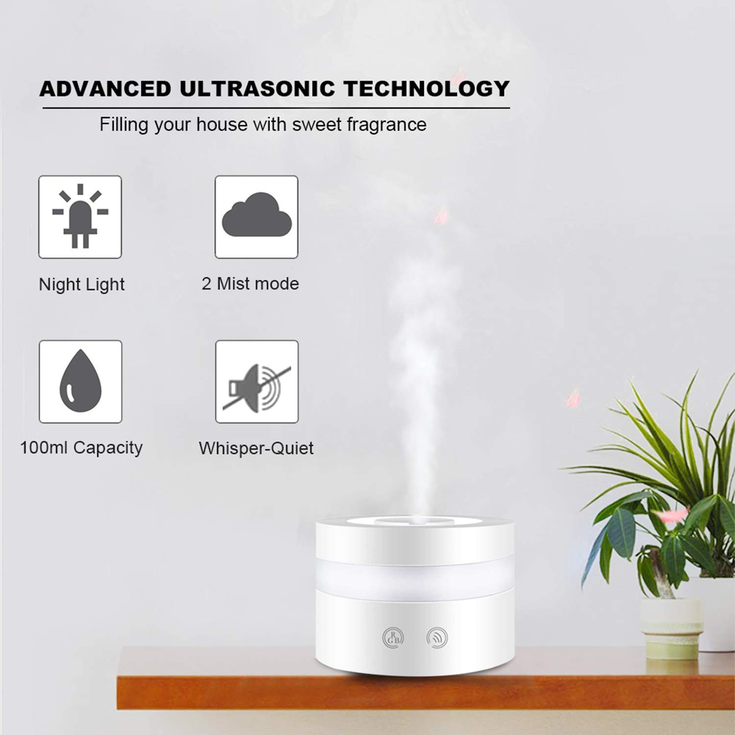 Home Appliances 2019 New Mini Usb Colorful Light Humidifier Miniature Landscape For Home Office Air Purifier Car Aroma Essential Oil Diffuser Latest Technology