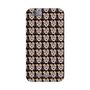 HomeSoGood Multicolor Gothic Dog Skull 3D Mobile Case For iPhone 6 (Back Cover)