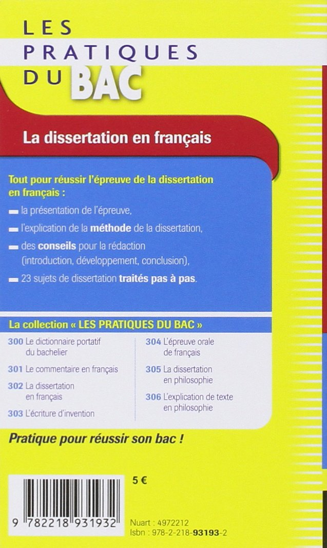 Corrig dissertation bac 2006