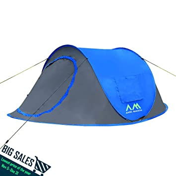 Arctic Monsoon 2-3 Person Instant Ultralight Portable Easy Set Up Private Tent Blue  sc 1 st  Amazon.com & Amazon.com : Arctic Monsoon 2-3 Person Instant Ultralight Portable ...
