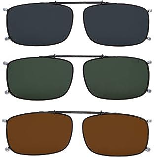 17af717e84b Eyekepper Grey Brown G15 Lens 3-pack Clip-on Polarized Sunglasses 2