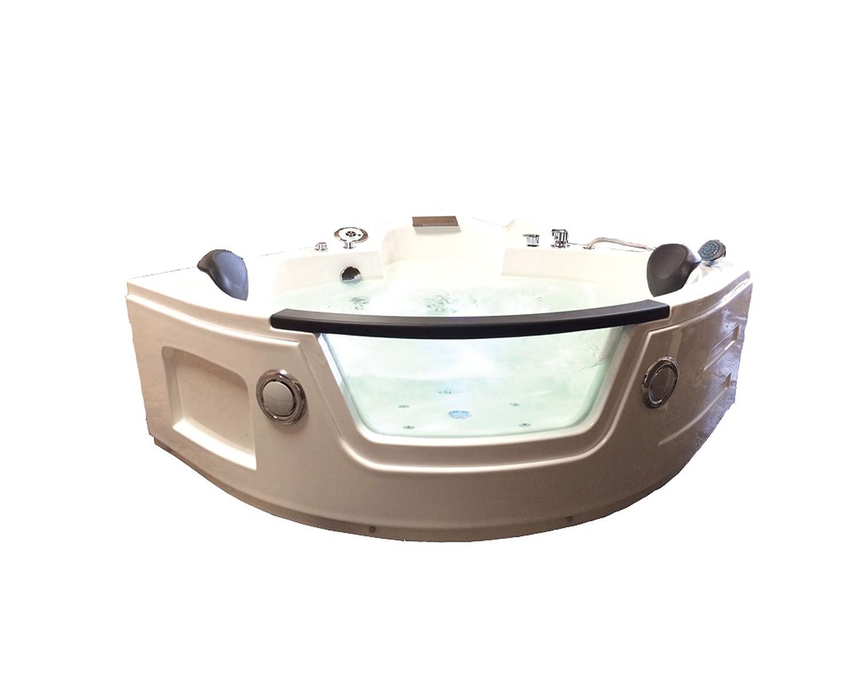 Ba/ñera hidromasaje Model MIAMI 135 x 135 cm Ba/ñera de esquina spa hidromasaje Piscina Spa NUEVA Terapia luz de colore para 2 nueva
