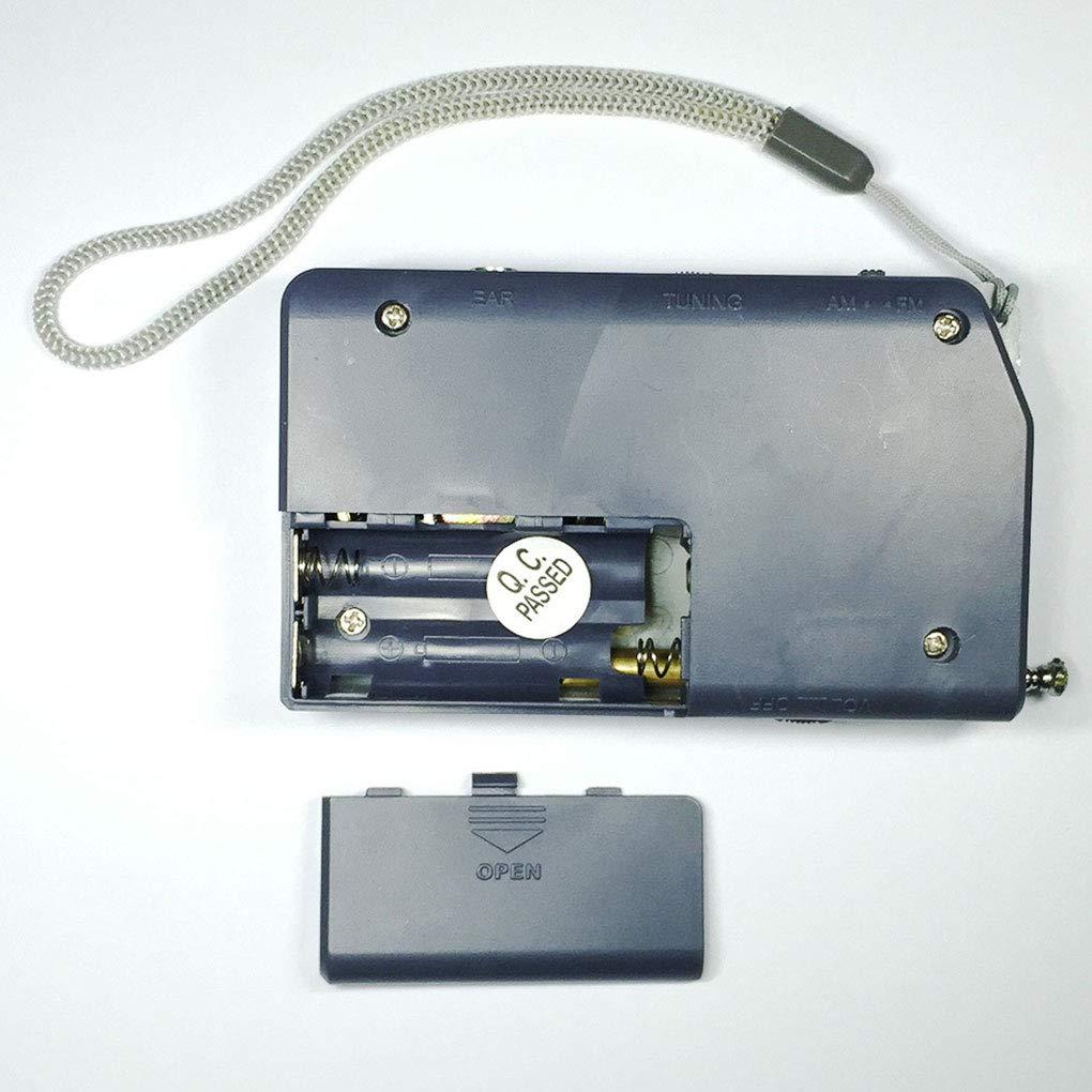 BoburyL Mini BC-R23 AM FM Radio-Empf/änger Tasche tragbare batteriebetriebenen Music Player Geschenke
