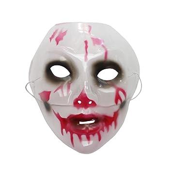 ParttYMask Mascarada,Halloween decoración máscara mueca máscara Miedo de Miedo máscara B Masquerade
