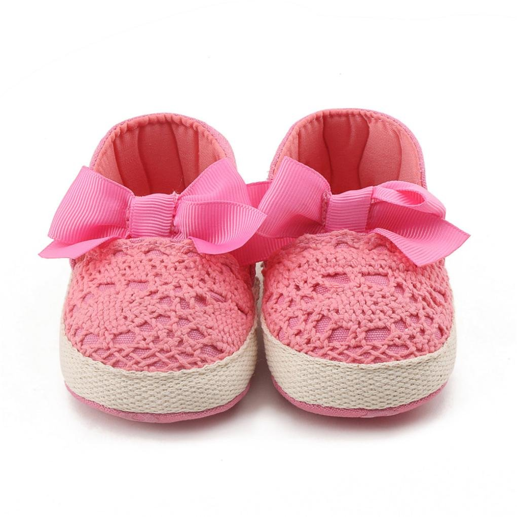 Voberry Baby Girls Sweet Butterfly Knot Sandals Soft Sole First Walkers Shoes