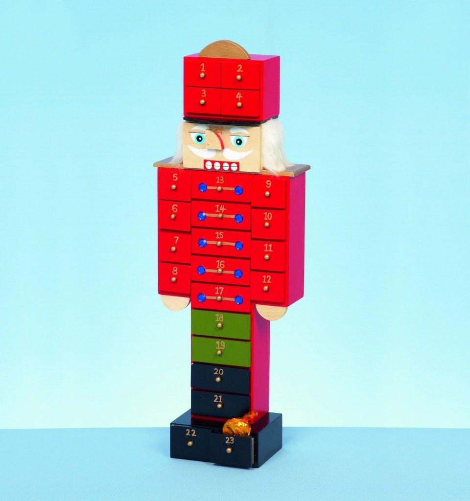 Wooden Nutcracker Advent Calendar 47cm by Premier by Premier
