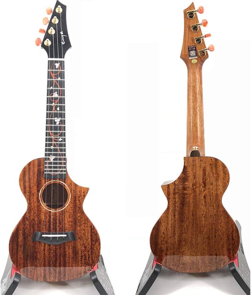 LOIKHGV Guitarras- Ukelele de Caoba Maciza con Pickup eléctrico ...