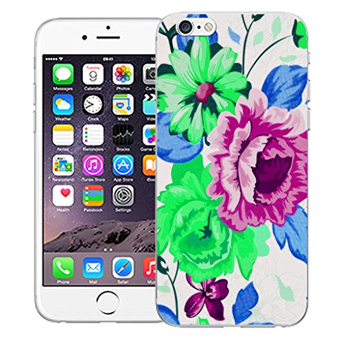 """Mobile Case Mate iPhone 6S 4.7"""" Silicone Coque couverture case cover Pare-chocs + STYLET - Purple Pompon pattern (SILICON)"""