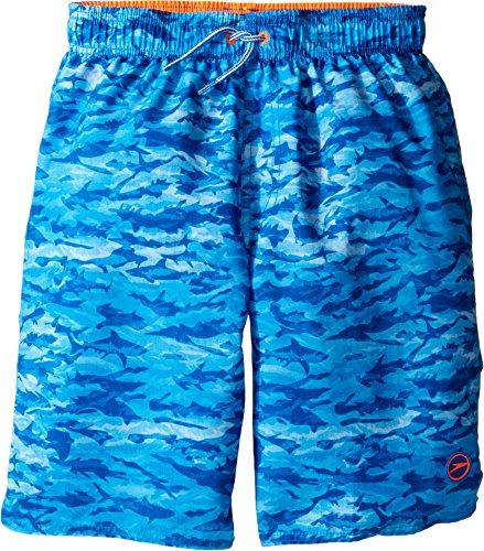 Speedo Boys Sharkamo Volley Short Swim Trunk, Bright Ocean, Large