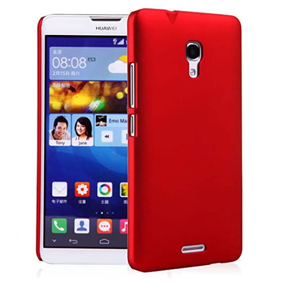 Premium Slim PC Matte Hard Case for Huawei Ascend Mate 2 4G (Red)